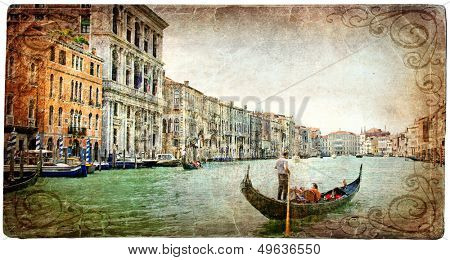 beautiful romantic Venise - artistic series