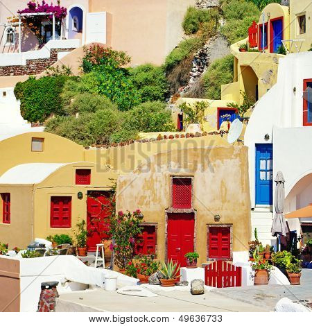 colors of Greece series - Santorini architecture