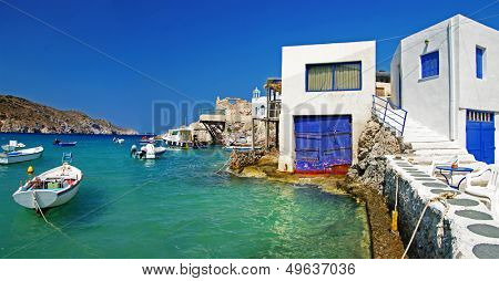 Milos island - Cyclades, traditional fishing village