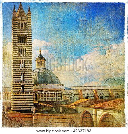 great italian landmarks artistic series -Siena cathedral