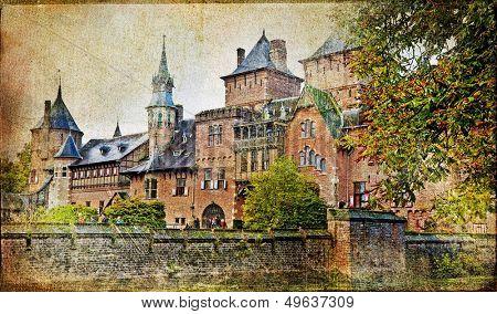 medieval castle - vintage artistic picture