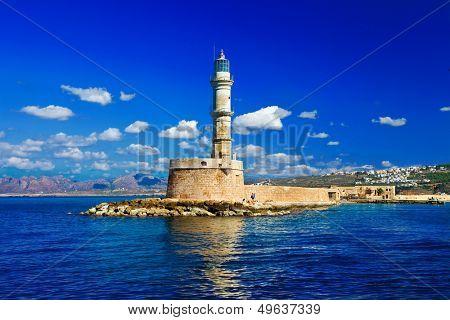beautiful Greece series - Chania town (Crete), light house