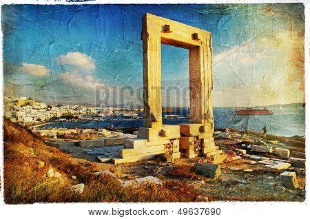 Naxos island,Greece - vintage picture