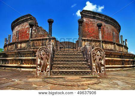 ancient  Polonnaruwa temple - medieval capital of Ceylon,UNESCO World Heritage Site