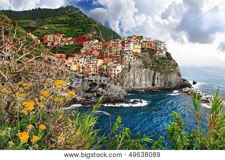amazing Italy series - pictorial Monarola village, Cinque terre