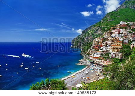 beautiful Positano. Amalfi coast. bella italia series
