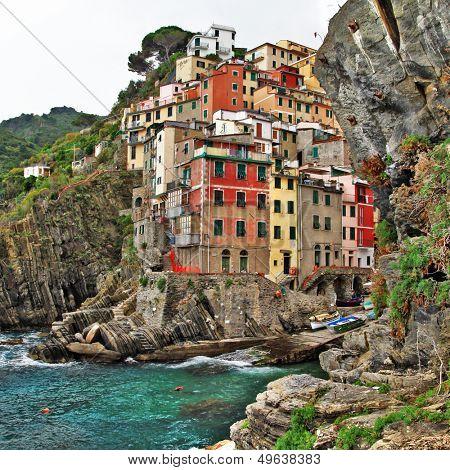 bella Italia series - colorful Riomaggiore village, Cinque terre