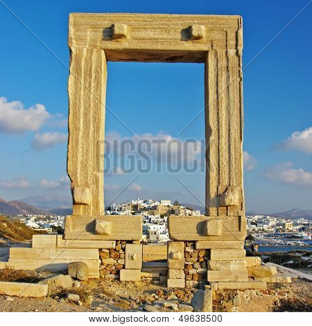 travel in Greek islands series - Naxos and appolo gate