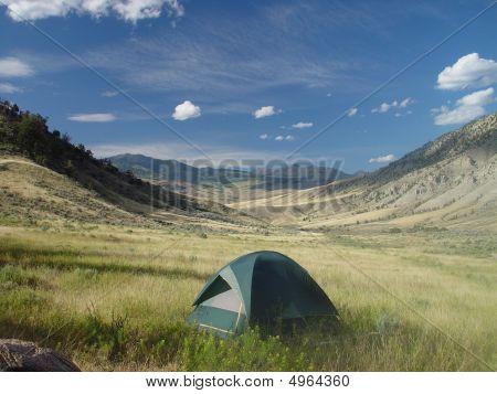 in der freien Natur Camping