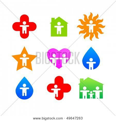 signs collection - elementary person -  vector template