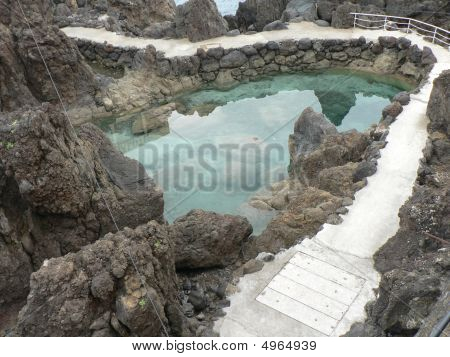 Steps And Natural Pool