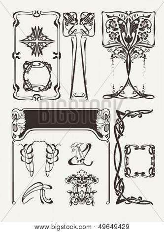 Set Of Vintage? Art Deco Design Elements