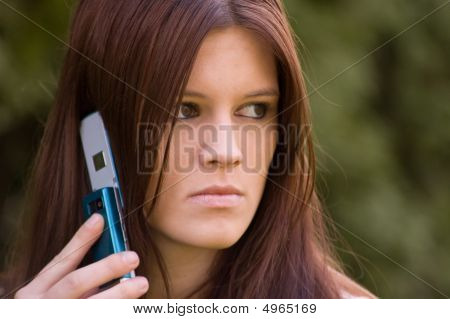 Attractive Young Woman On Cell Phone