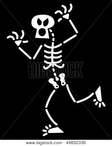 Halloween skeleton giving a fright