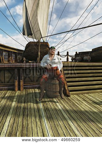 Pirate on Board Ship