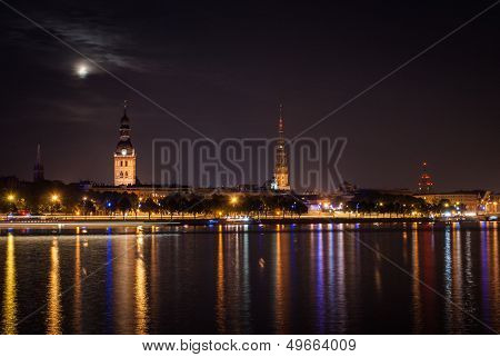 Old Riga In The Night.