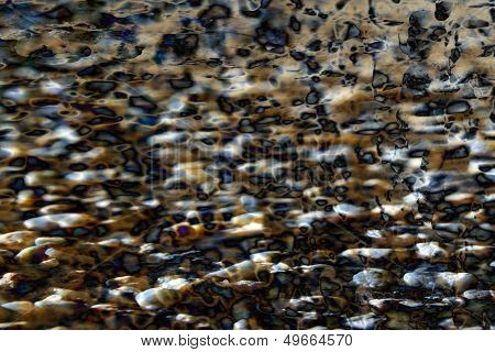 Abstract Brown And Blue Stones Background