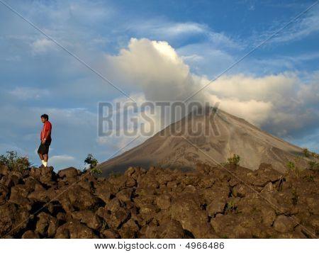 Man Versus The Volcano