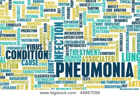 Pneumonia Concept as a Medical Disease Art