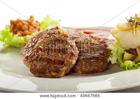 Serbian Rissoles with Bacon and Cheese