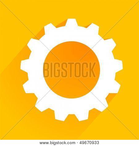 minimalistic illustration of a cogwheel gear icon