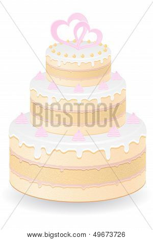 Wedding Cake Vector Illustration