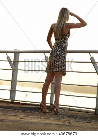 Blond Lady Looking Ahead