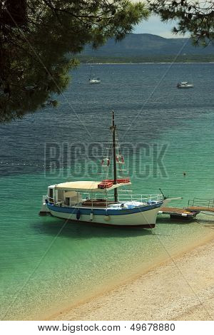 Boat Anchorer On Beach