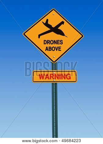 Warning Drones Above Sign