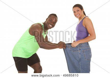 Fitness Man Woman Big Pants