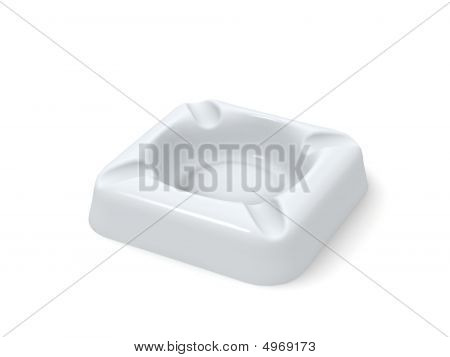 White Porcelaine Ashtray