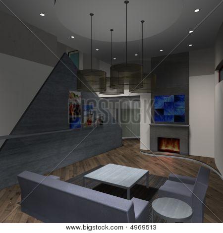 modernes Haus livingroom