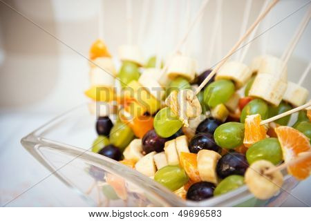 pieces of fruit on the stick