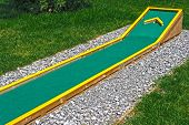 pic of miniature golf  - Small golf course built for children in a recreational space - JPG