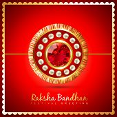 stock photo of rakshabandhan  - vector rakshabandhan festival background design - JPG