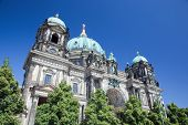 Berlin Cathedral. German Berliner Dom. A famous landmark on the Museum Island in Mitte, Berlin, Germany. poster
