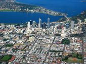 Perth City Aerial View 4 poster