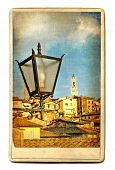 vintage cards - European landmarks - Siena(Tuscany) poster