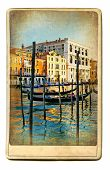 European landmarks series - vintage cards- Venice poster