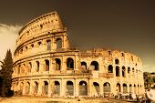 Colosseum  - italian landmarks series-artistic toned picture poster