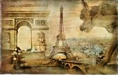 Parisian mystery - artwork in retro style