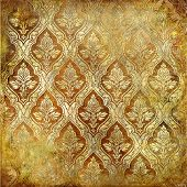 vintage golden shabby background