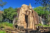 foto of rock carving  - greatest buddhistic landmarks  - JPG