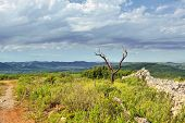 foto of ares  - Rural landscape with mountain view near town Ares in Spain - JPG