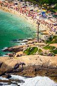 picture of ipanema  - Aerial view of Ipanema Beach Rio De Janeiro Brazil - JPG