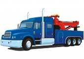 picture of towing  - Vector isolated heavy wrecker - JPG