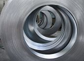 picture of ironworker  - Sheet Metal Rolls abstract technology concept backgound - JPG