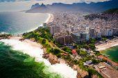 pic of ipanema  - Buildings at the waterfront Ipanema Beach Copacabana Beach Rio de Janeiro Brazil - JPG