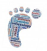 stock photo of reflexology  - Reflexology in word collage - JPG