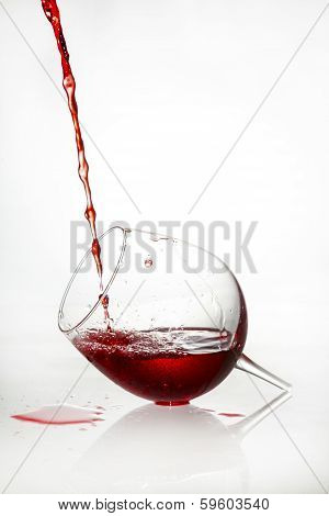 Broken Glass With Red Liquid